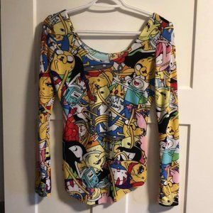 Adventure Time All Over Character Print Top
